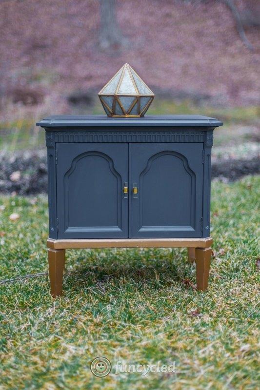 gold painted furnitureGold Dipped Navy Dresser Set  Hometalk