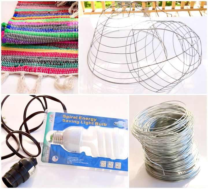 wire basket planter lamps, crafts, gardening, lighting