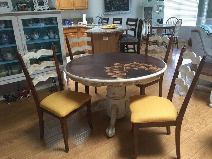table top trouble makeover, painted furniture