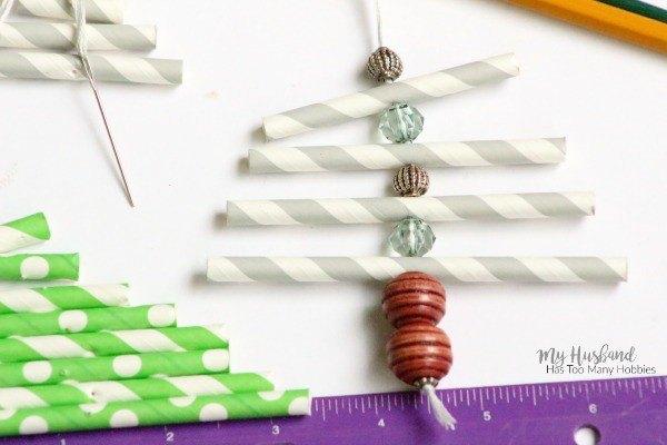 paper straw christmas tree ornaments, christmas decorations, gardening, seasonal holiday decor