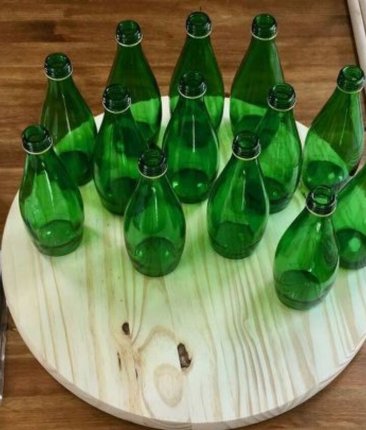 green bottle christmas tree
