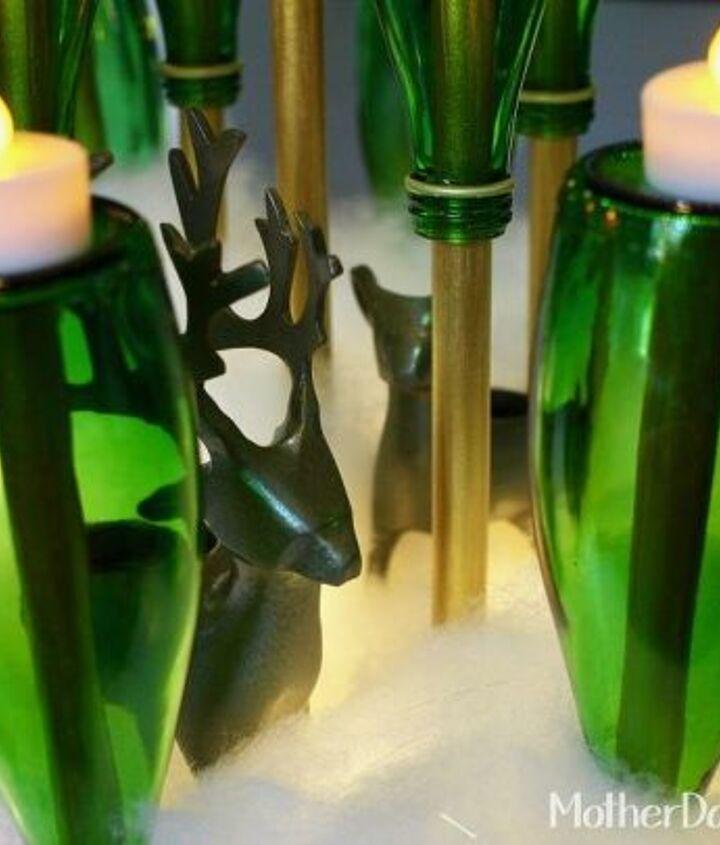 green bottle christmas tree