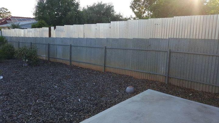 q backyard side fence very ugly, fences, The side of my backyard