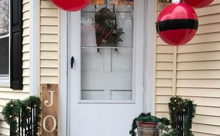 front stoop christmas makeover