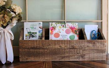 DIY Wood Desk Organizer/Mail Sorter
