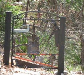 Update Vintage Garden Tool Gate In Situ In The Garden, Fences, Tools