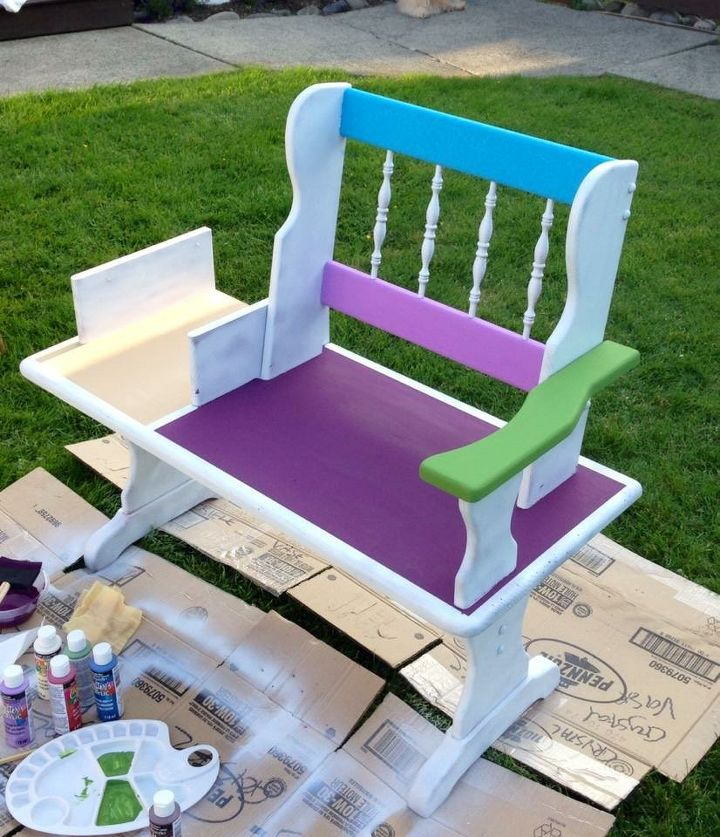 Funky Hand Painted Bench Hometalk, Hand Painted Outdoor Benches