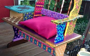 Funky Hand Painted Bench