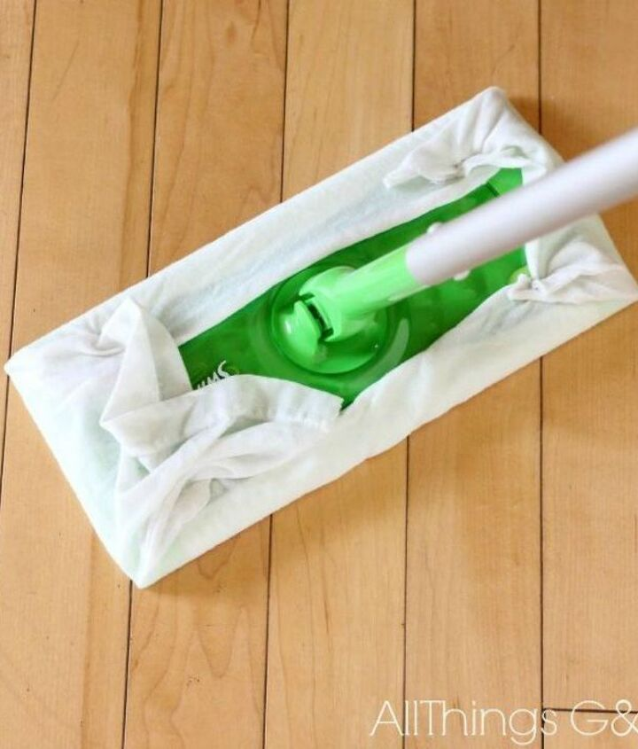 s how to quickly clean your living room before you go to bed, cleaning tips, how to, Have homemade wet swiffer wipes ready to go