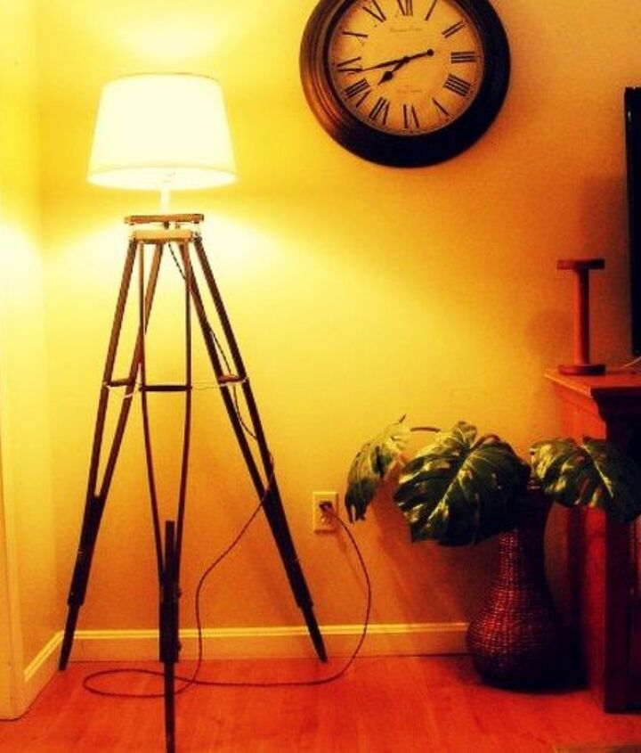 s 14 blah to beautiful lamp ideas to transform your entire living room, lighting, Build a stunning base out of spare crutches