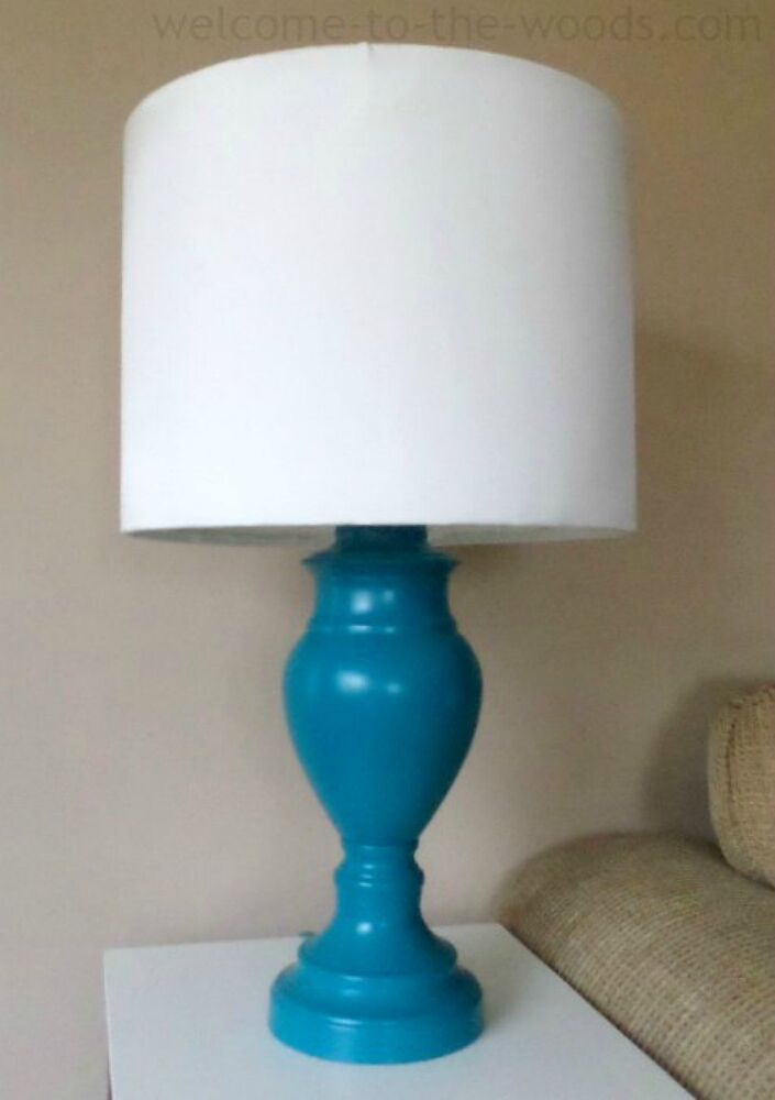 Add some bold blue to it with spray paint