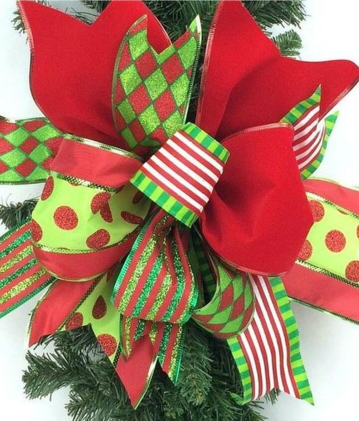 s don t stop at ornaments these tree decorating ideas are even better, christmas decorations, seasonal holiday decor, Or tie this funky one with different ribbons