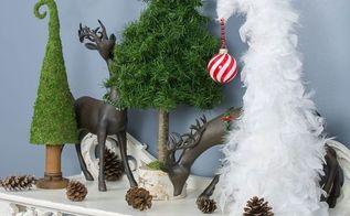 whimsical tabletop christmas trees