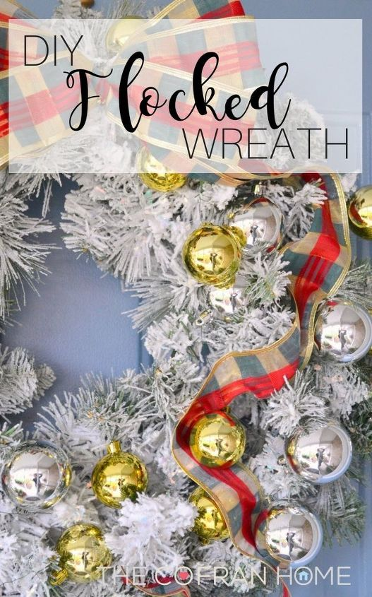 diy flocked wreath crafts wreaths
