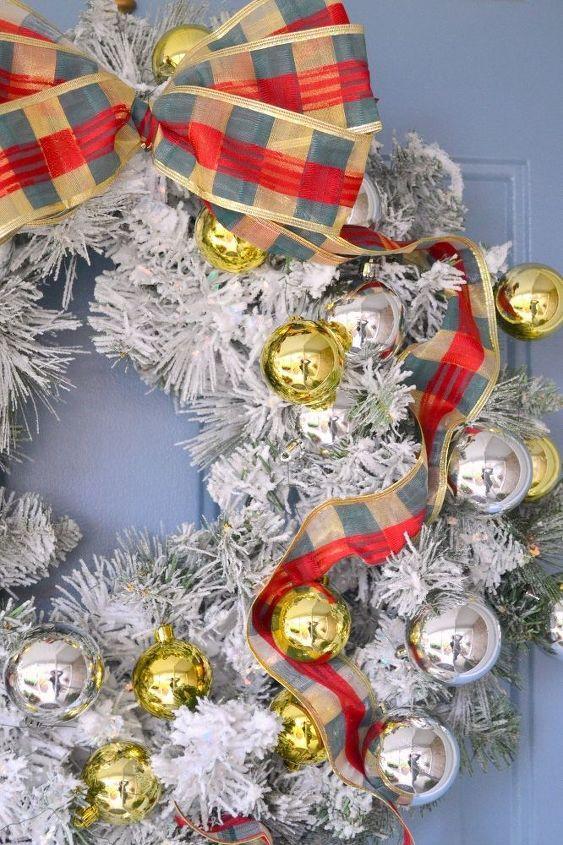 diy flocked wreath, crafts, wreaths