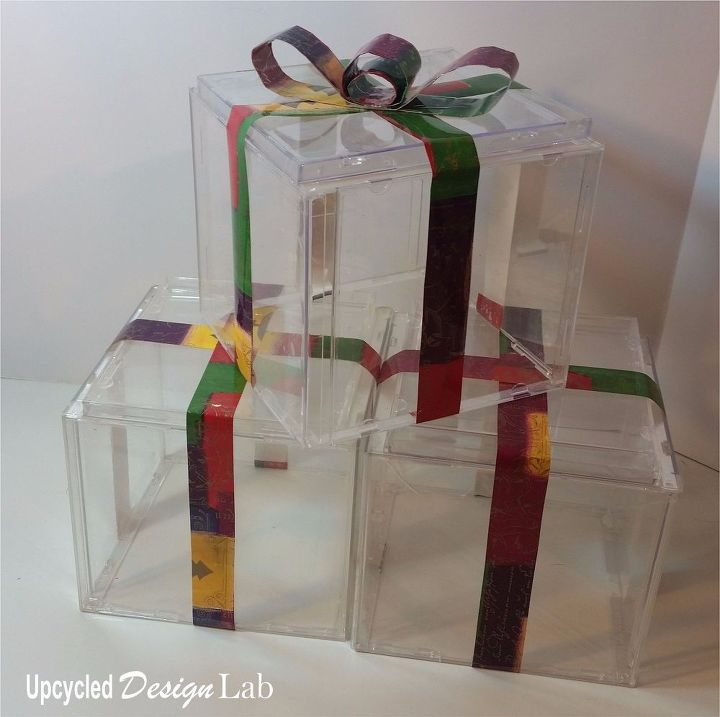 quick and easy upcycled christmas decoration light boxes