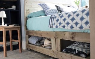 rustic bed hack with storage, storage ideas