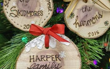 quick easy personalized wood slice ornaments, christmas decorations, seasonal holiday decor, Create unique and personalized ornaments