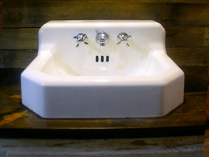 how to clean and remove stains from an old cast iron sink, bathroom ideas, cleaning tips, how to, plumbing