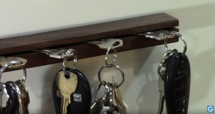 a simple wooden key holder