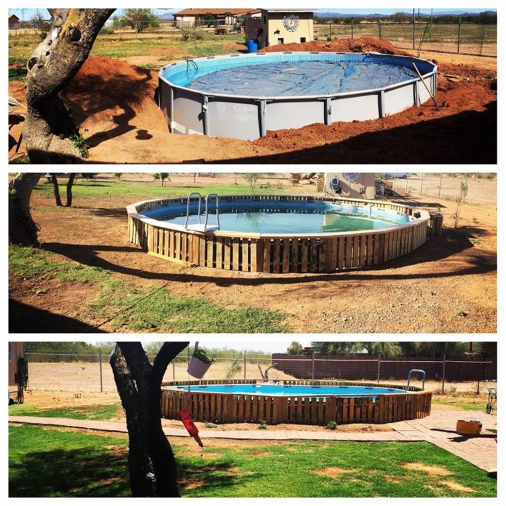 can t commit to an inground pool so we improvised, pool designs