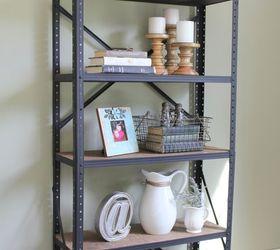 Diy Industrial Style Bookshelf, Shelving Ideas, Storage Ideas