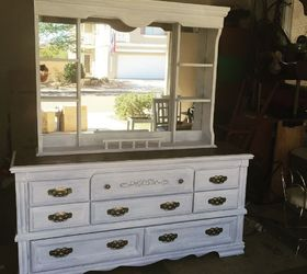 Dresser Turned Media Console Fireplace, Fireplaces Mantels, Painted  Furniture