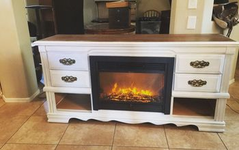 Dresser Turned Media Console Fireplace