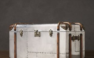 build you own restoration hardware style steamer trunk, RH trunk in their catalog 1800