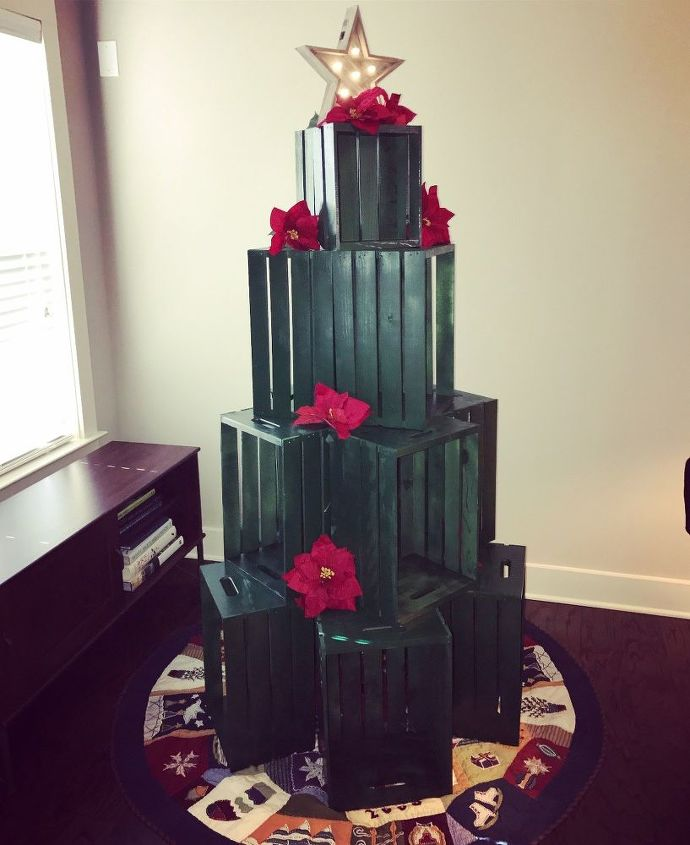 cat proof crate christmas tree