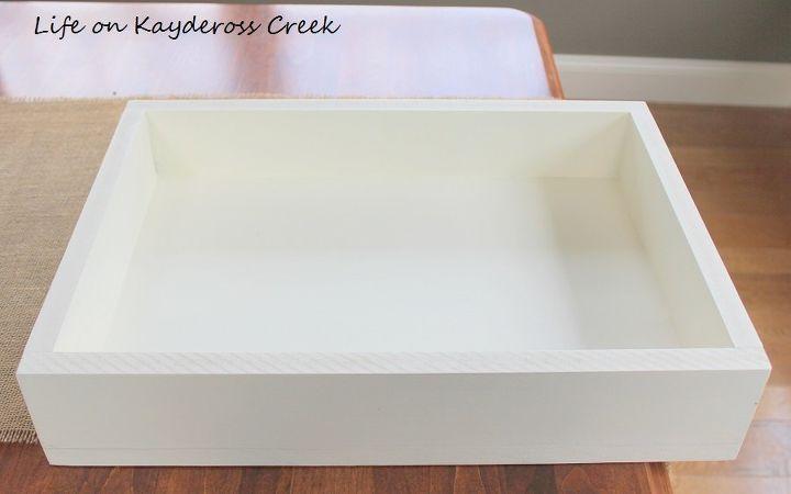 diy farmhouse tray and display box