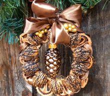 natural nutshell ornament, christmas decorations, seasonal holiday decor