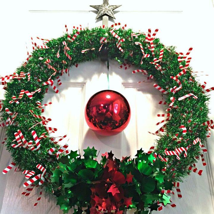 diy pool noodle christmas wreath , crafts, pool designs, wreaths