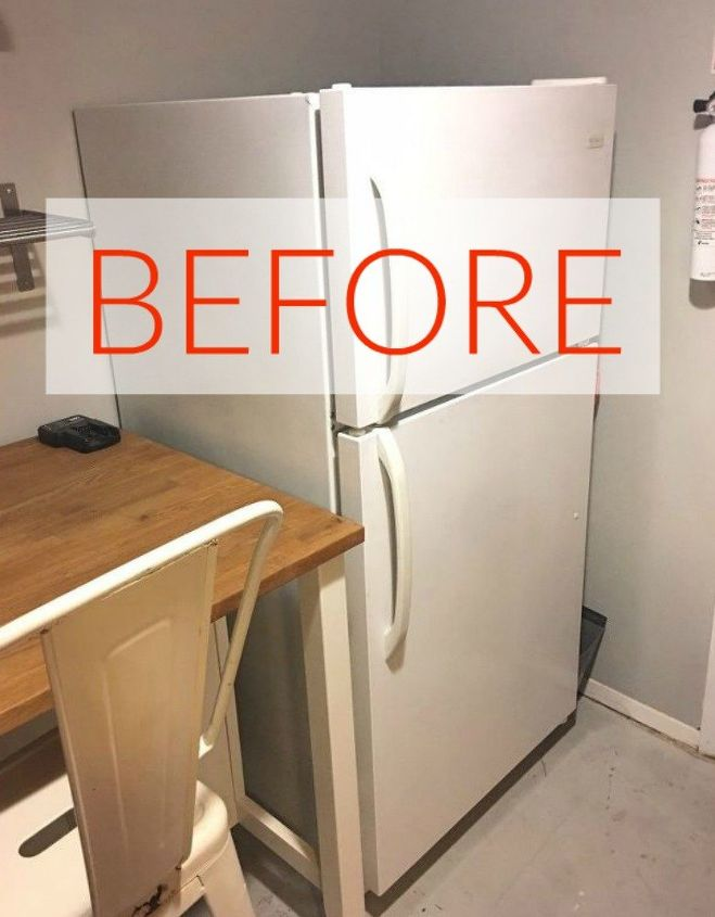 s don t buy new appliances these 9 diy hacks are brilliant, appliances, Before A standard old white fridge