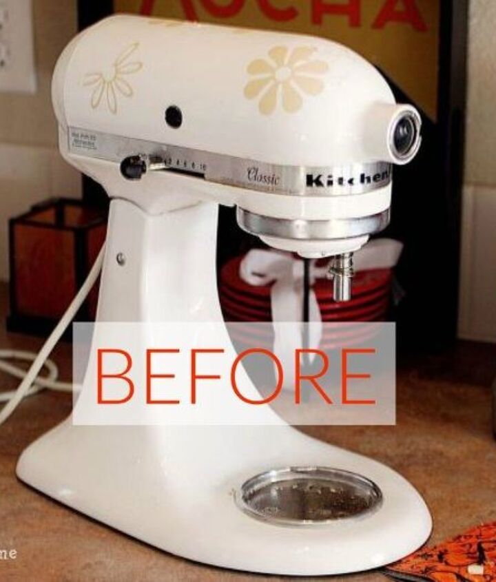 s don t buy new appliances these 9 diy hacks are brilliant, appliances, Before Your standard white KitchenAid mixer