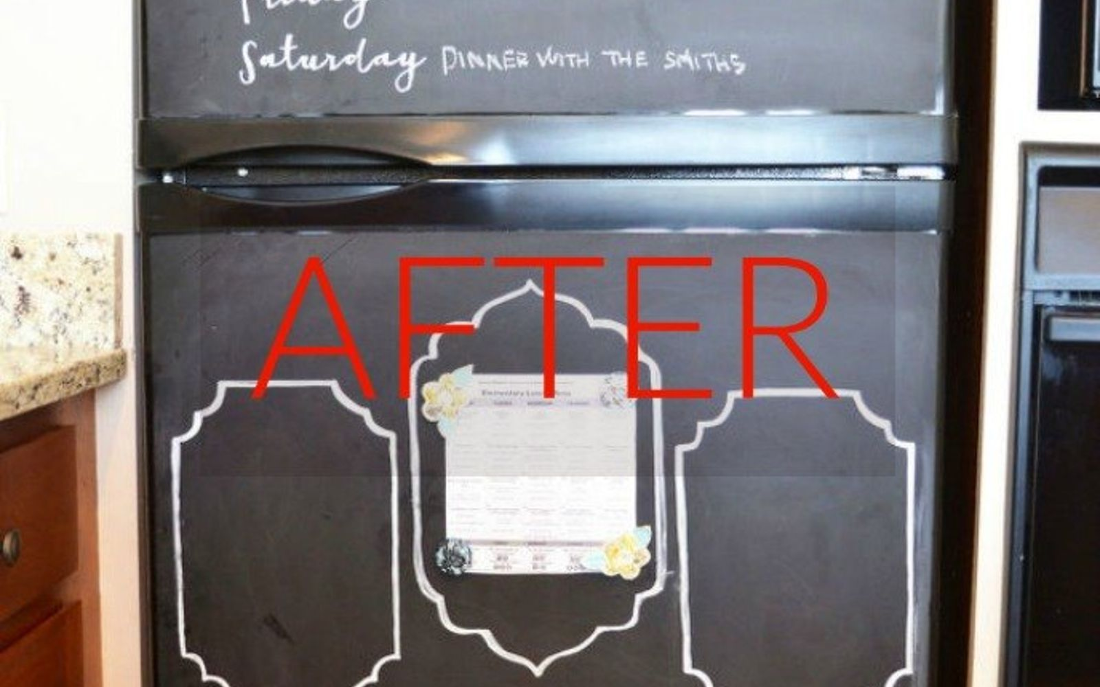 s don t buy new appliances these 9 diy hacks are brilliant, appliances, After A chalkboard masterpiece for 15