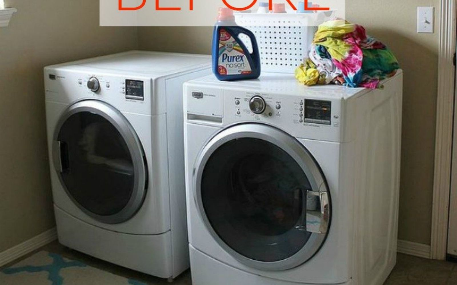 s don t buy new appliances these 9 diy hacks are brilliant, appliances, Before A boring and plain washer and dryer