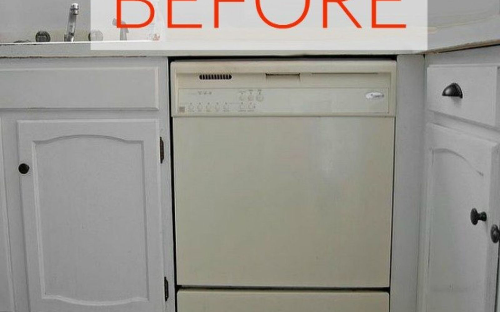 s don t buy new appliances these 9 diy hacks are brilliant, appliances, Before A yucky almond colored dish washer