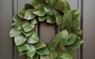 simple diy magnolia wreath for every day decorating, crafts, flowers, gardening, wreaths