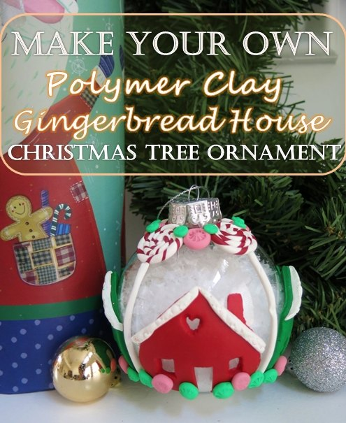 How to Make a Gingerbread House Christmas Ornament With Polymer Clay ...