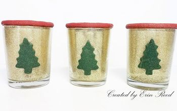glittery christmas candle votives