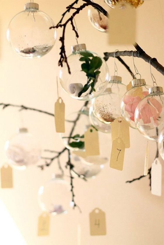s 25 advent calendar ideas that are so cute, This ornament one with tiny messages