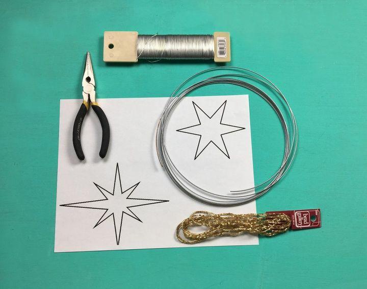 star wire ornaments, christmas decorations, seasonal holiday decor