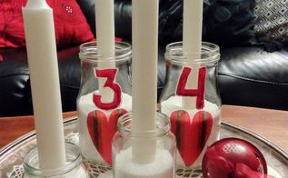 diy advent candles in glass jar
