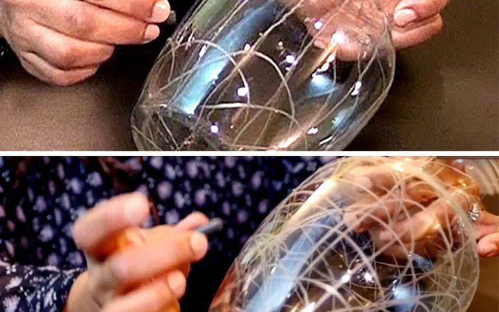 diy crackled glass look