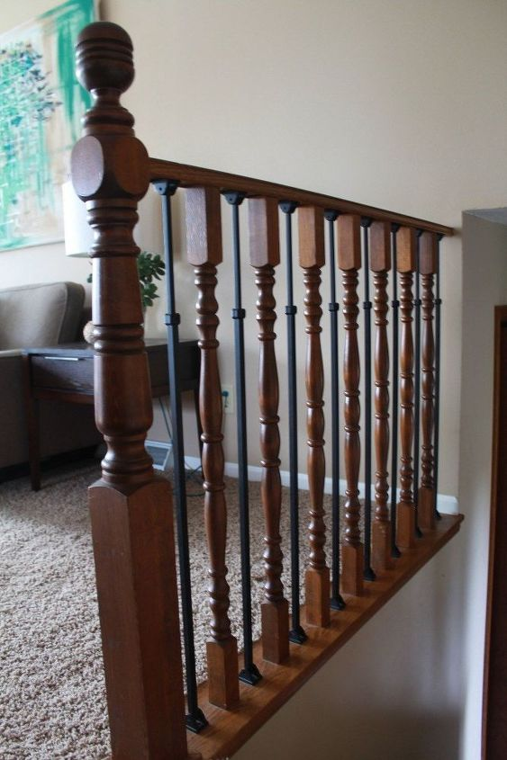stair railing makeover diy baluster, stairs