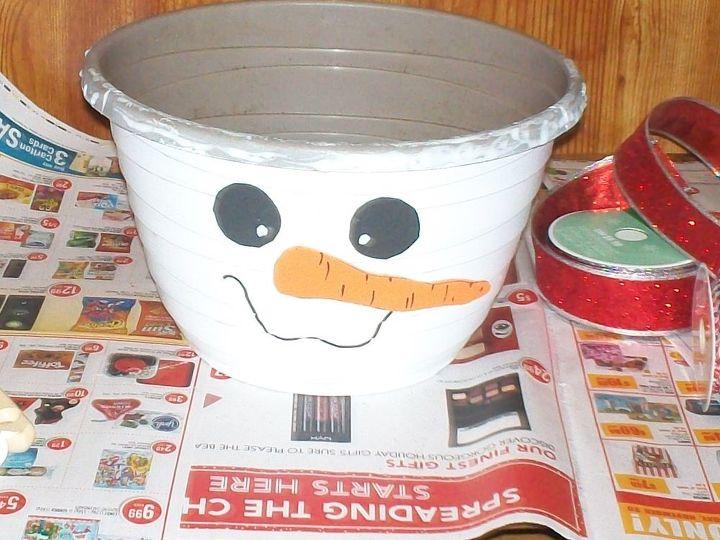 DIY Snowman Planter