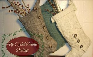 up cycled sweater stockings