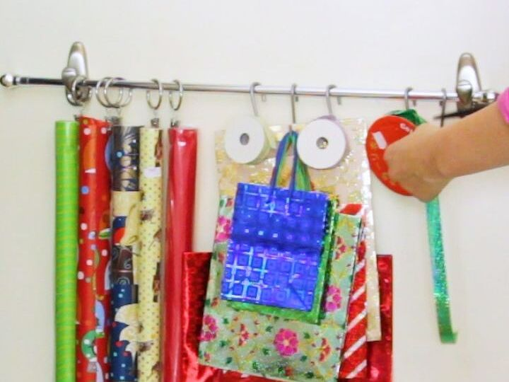 A Wrapping Station on Your Closet Door