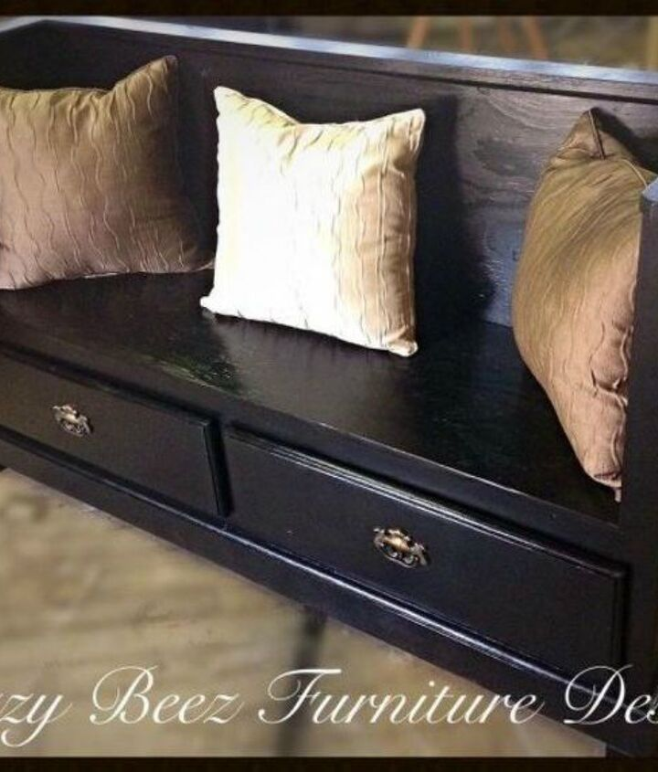 s 12 shocking things you can do with your old dresser, painted furniture, Repurpose it into an entryway bench